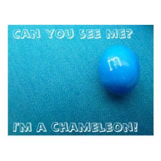 Blue Chameleon Postcard
