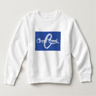 blue chapel brook logo on kids sweat shirt