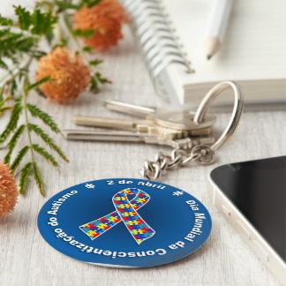 Blue Chaveiro Awareness of the Autismo Key Ring
