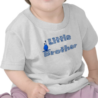 Blue Checked Little Brother and Alien T-Shirt