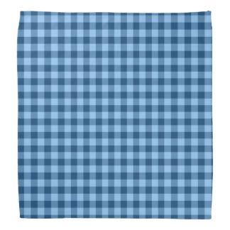 Blue checkered gingham bandana