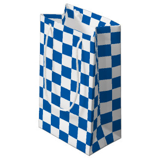 Blue Checkered Small Gift Bag