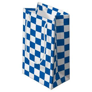 Blue Checkered Small Gift Bag