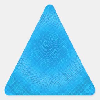 blue checkered triangle sticker