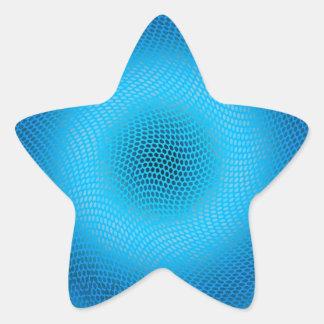 blue checkered star sticker