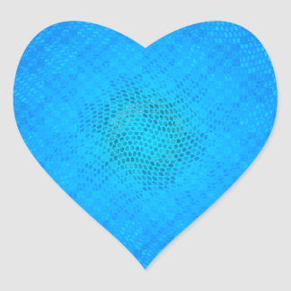 blue checkered heart stickers