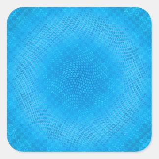 blue checkered square stickers