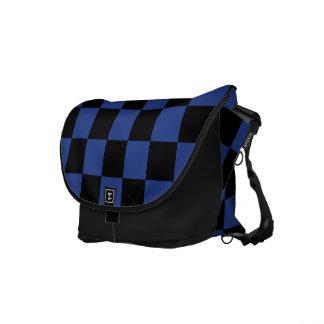 Blue Checks Messenger Bag