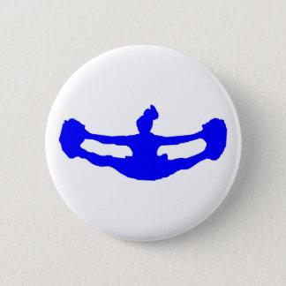 Blue CHEERLEADER 6 Cm Round Badge