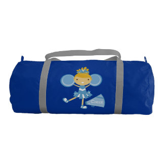 Blue Cheerleader Duffle Bag Gym Duffel Bag