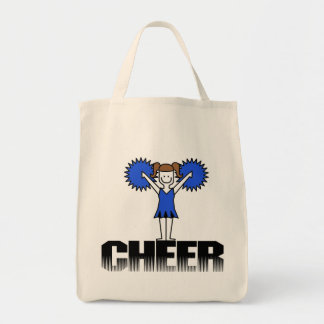 Blue Cheerleading T-shirts and Gifts Canvas Bag