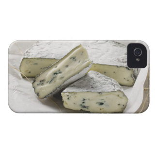 Blue cheese with pieces cut on paper iPhone 4 Case-Mate cases