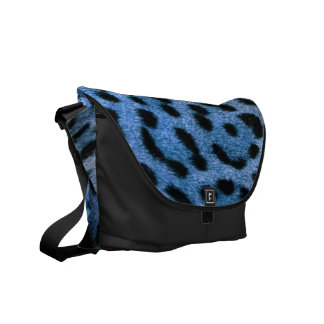 Blue Cheetah Messenger bag