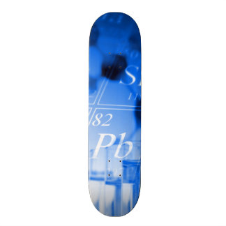 Blue chemistry 21.3 cm mini skateboard deck