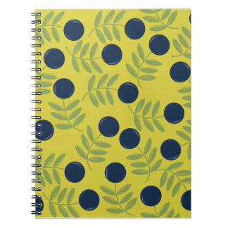 Blue Cherries Notebook