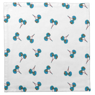 Blue Cherry Pattern Napkin