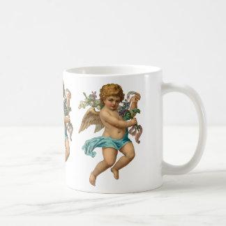 """""""Blue Cherub"""" Vintage Coffee Mug"""