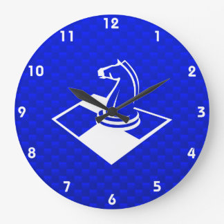 Blue Chess Large Clock