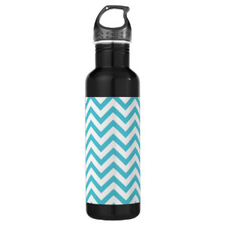 Blue Chevron 710 Ml Water Bottle