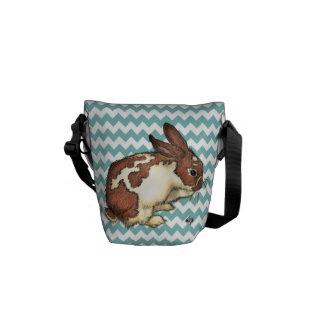 Blue Chevron Bunny Commuter Bag