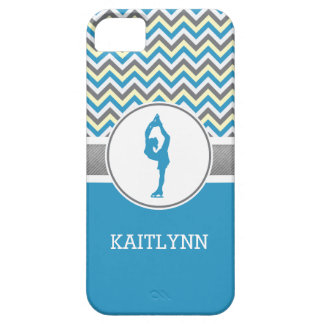 Blue Chevron Figure Skater iPhone 5/5s Case