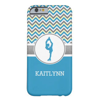 Blue Chevron Figure Skater iPhone 6 Case Barely There iPhone 6 Case
