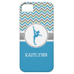 Blue Chevron Gymnast Personalised iPhone 5/5s Case