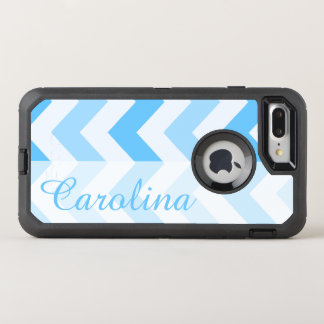 Blue Chevron Name Template OtterBox Defender iPhone 8 Plus/7 Plus Case