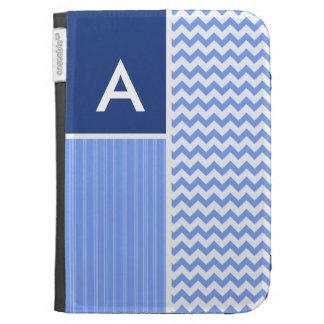 Blue Chevron Pattern Kindle 3G Case