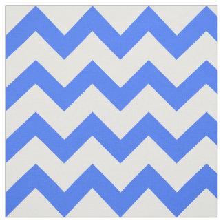 Blue Chevron Pattern Fabric