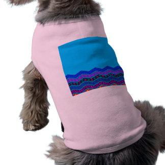 Blue Chevron Pattern Geometric Designs Color Sleeveless Dog Shirt