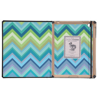 Blue Chevron Pattern IPAD 2 Dodo Book Case iPad Case