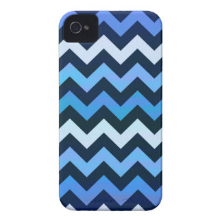 Blue Chevron Pattern iPhone 4 Covers