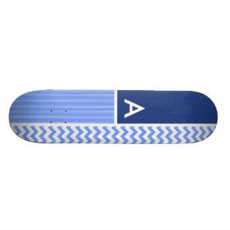 Blue Chevron Pattern Skateboards