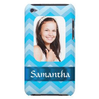 Blue chevron photo template iPod touch Case-Mate case