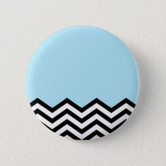 Blue Chevron Piece 6 Cm Round Badge