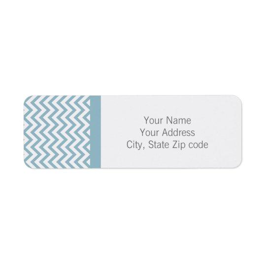 Blue Chevron Return Address Label