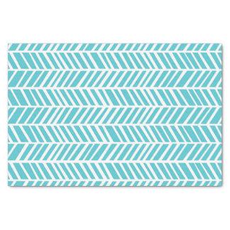 Blue Chevron Tissue Paper