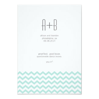 Blue Chevron You In? Save the Date Card