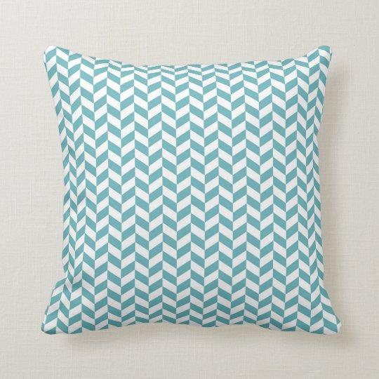 Blue chevron zig zag geometric zigzag pattern throw