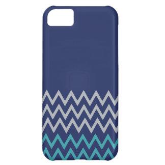 Blue chevron zigzag stripes zig zag preppy pattern iPhone 5C case