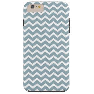 Blue Chevrons Pattern Tough iPhone 6 Plus Case