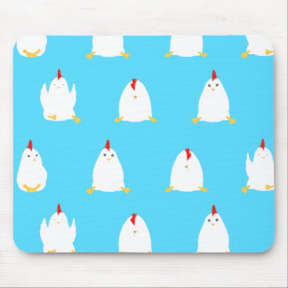 Blue Chickens Mouse Pad
