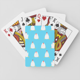 Blue Chickens Mouse Playing Game Playing Cards