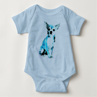 Blue Chihuahua Cute Baby Bodysuit