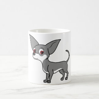 Blue Chihuahua with White Markings Coffee Mug