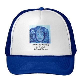 Blue Chimpanzee monkey funny animal Trucker Hat