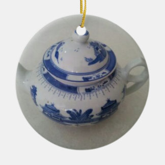 Blue China Teapot Christmas Ornament