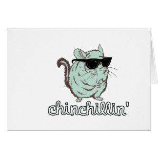 Blue Chinchillin Chinchilla Cards