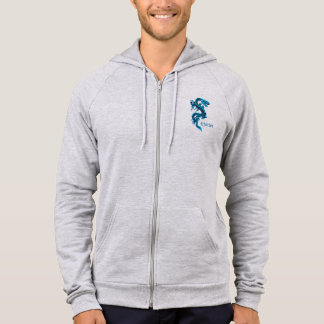 Blue Chinese Dragon Custom Hoodie